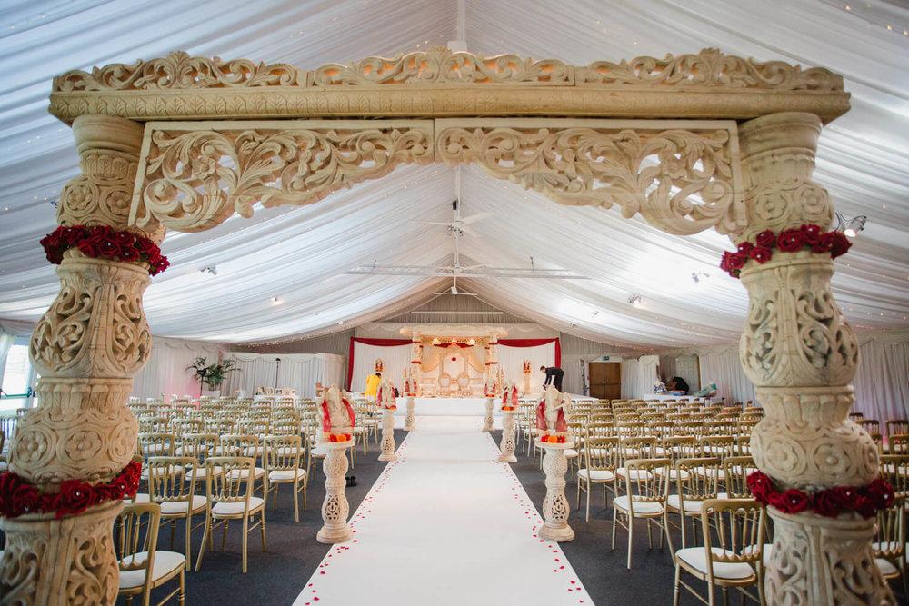 asian wedding ceremony room at heaton house farm