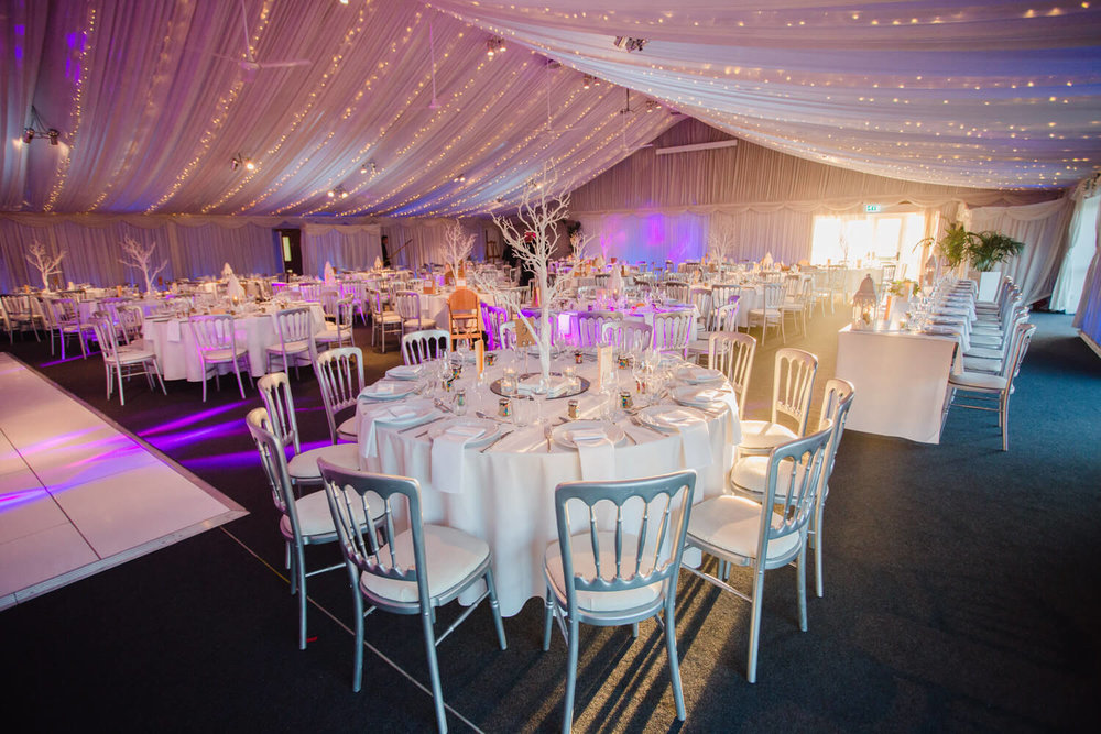 Heaton House Farm Wedding Venue Reception Decor