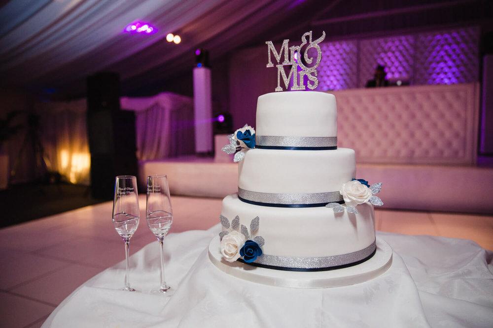 wedding cake at heaton house farm