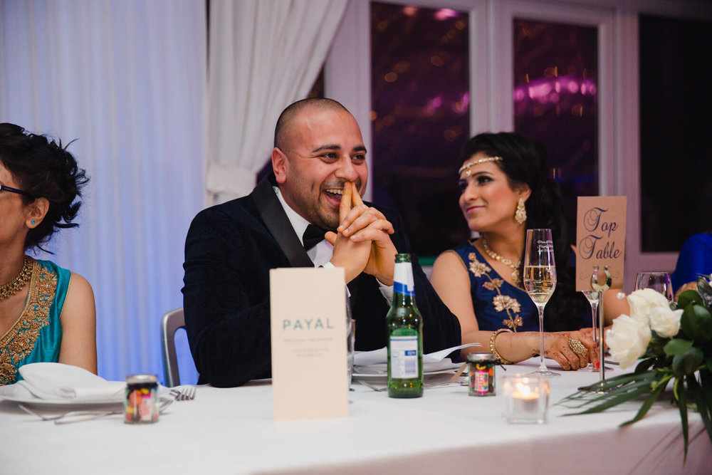 groom embarrassed by best man speech at Heaton House Farm