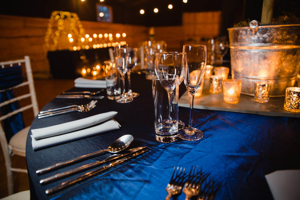 detail photograph of glasses and cutlery