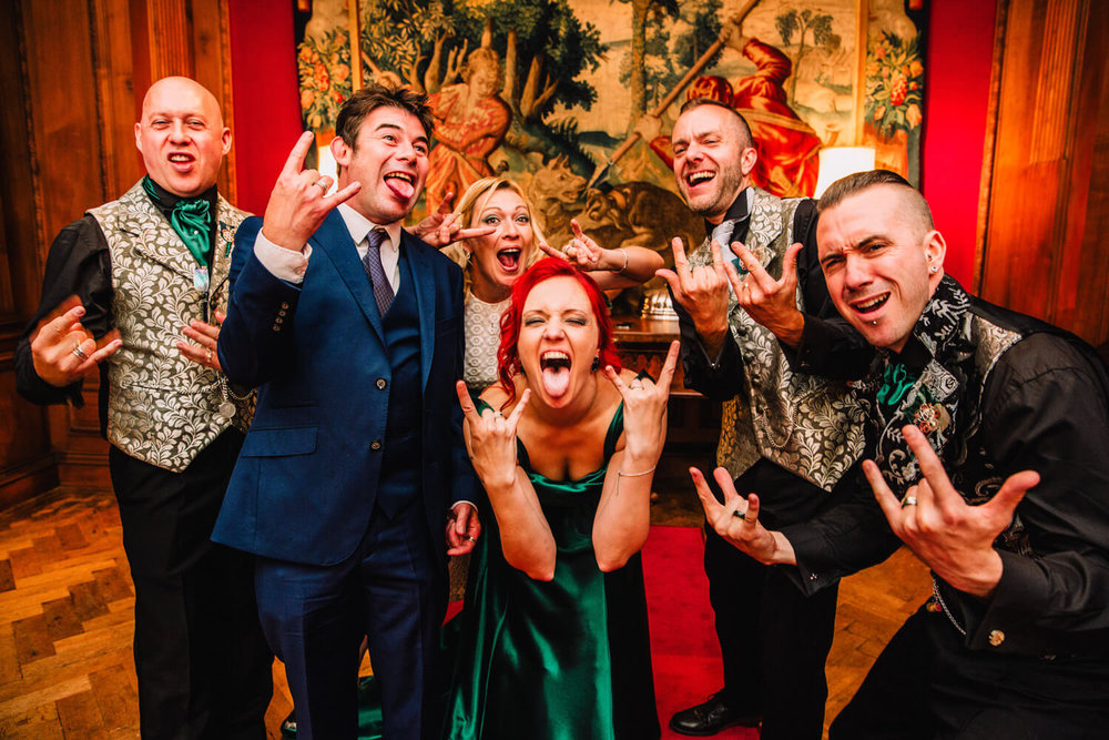 bridal party rocking at thornton manor