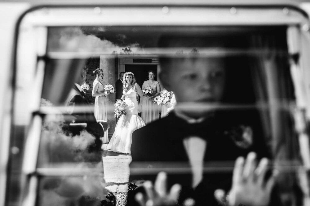 bride and bridesmaids at willington hall