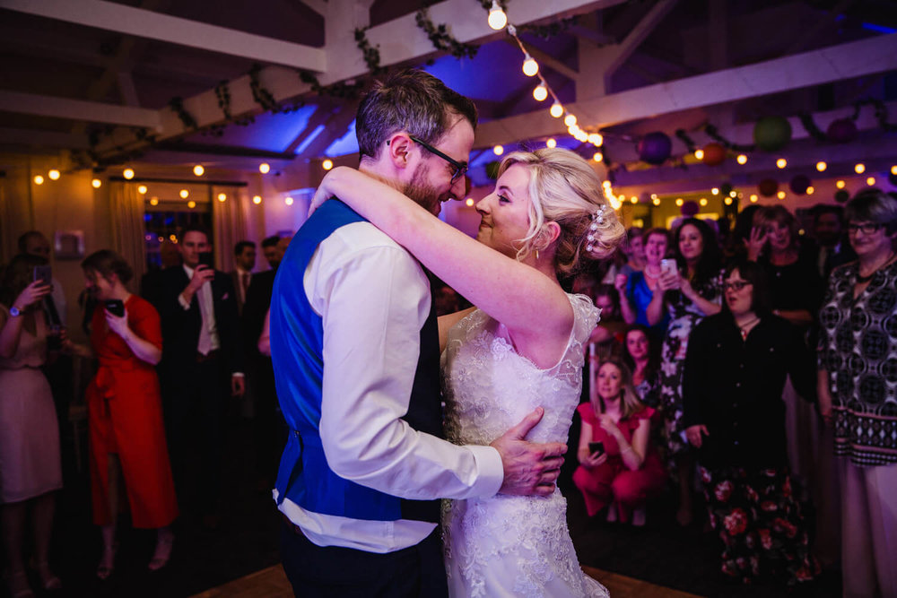 close up intimate first dance photograph at quarry bank mill wedding