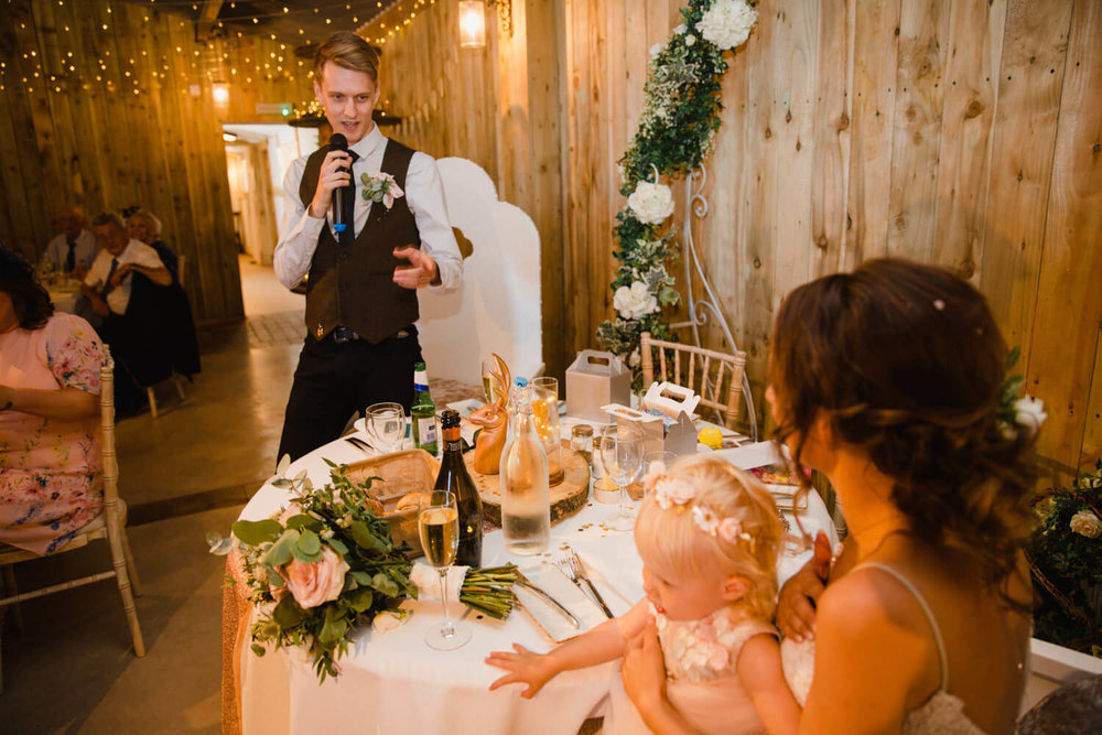 groom speech to bride at top table