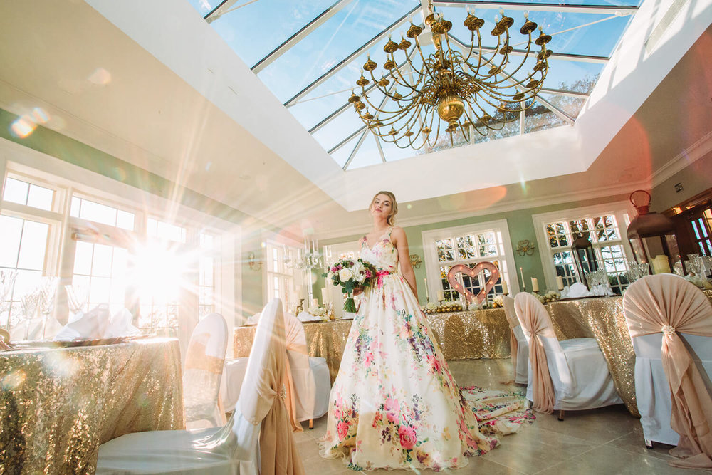 Styled Bridal Shoot showcasing Willington Hall's Orangery