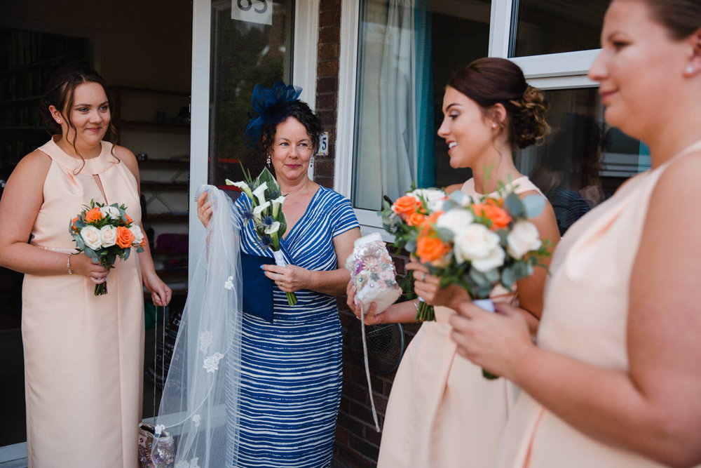 mother of bride with bridesmaids