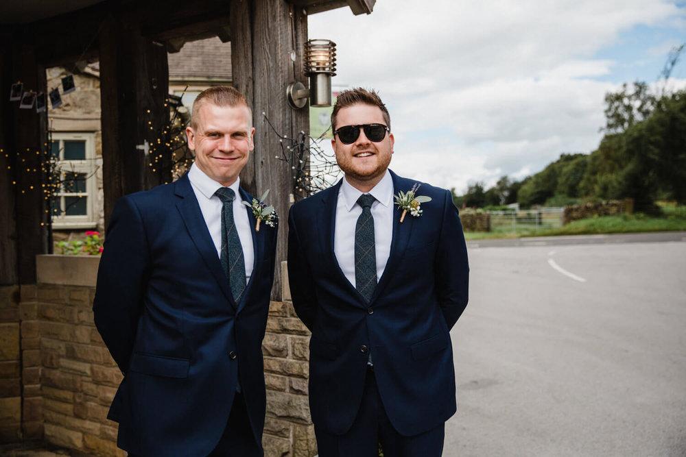 groom and groomsmen photograph before ceremony