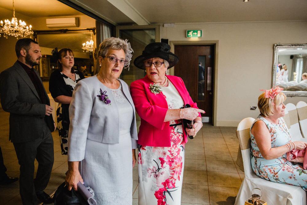 wedding guest grandmas enter ceremony room
