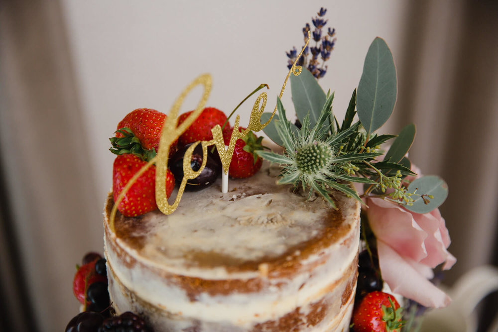 top tier of wedding cake detail photograph