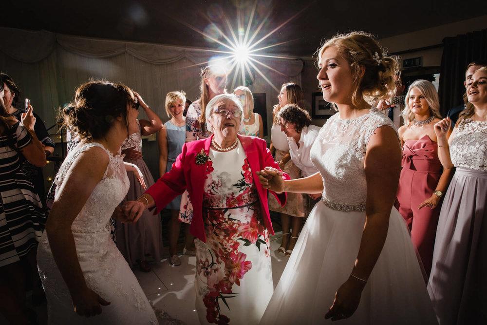 starburst flash effect on dance floor