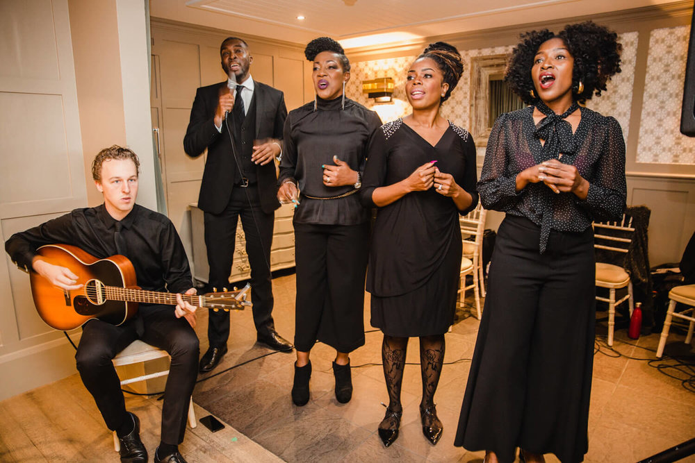 AMC Gospel choir sing for Lauren to walk down aisle