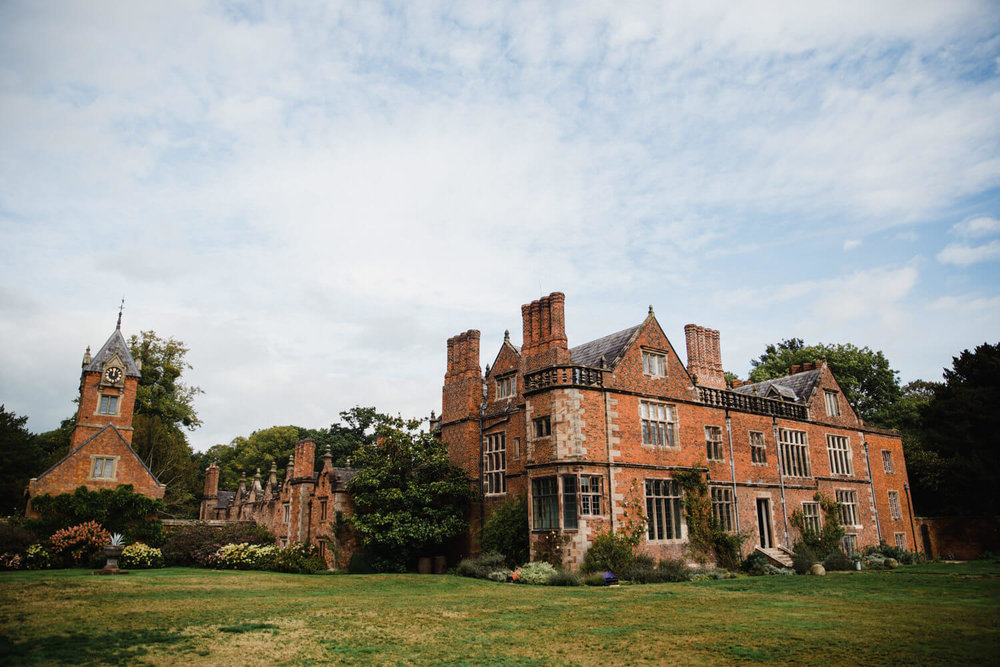 wide angle lens photograph of dorfold hall gardens