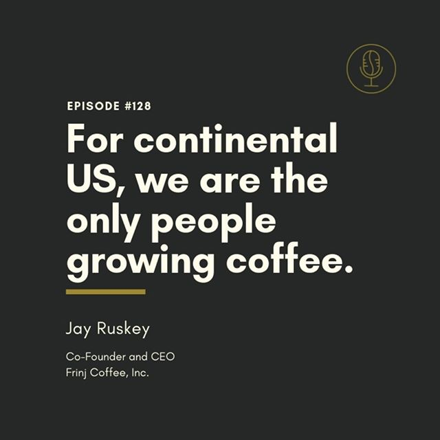 Our next episode on #CoffeeMyths will blow your mind talking about coffee grown in the continental US. Are you ready to hear about #SuperSpecialtyCoffee?