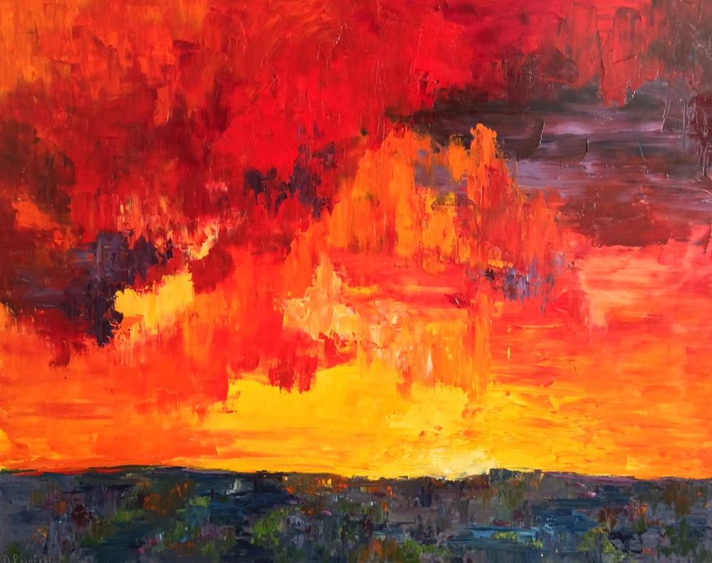 """Awakening, oil on canvas, 48""""x60"""" SOLD"""