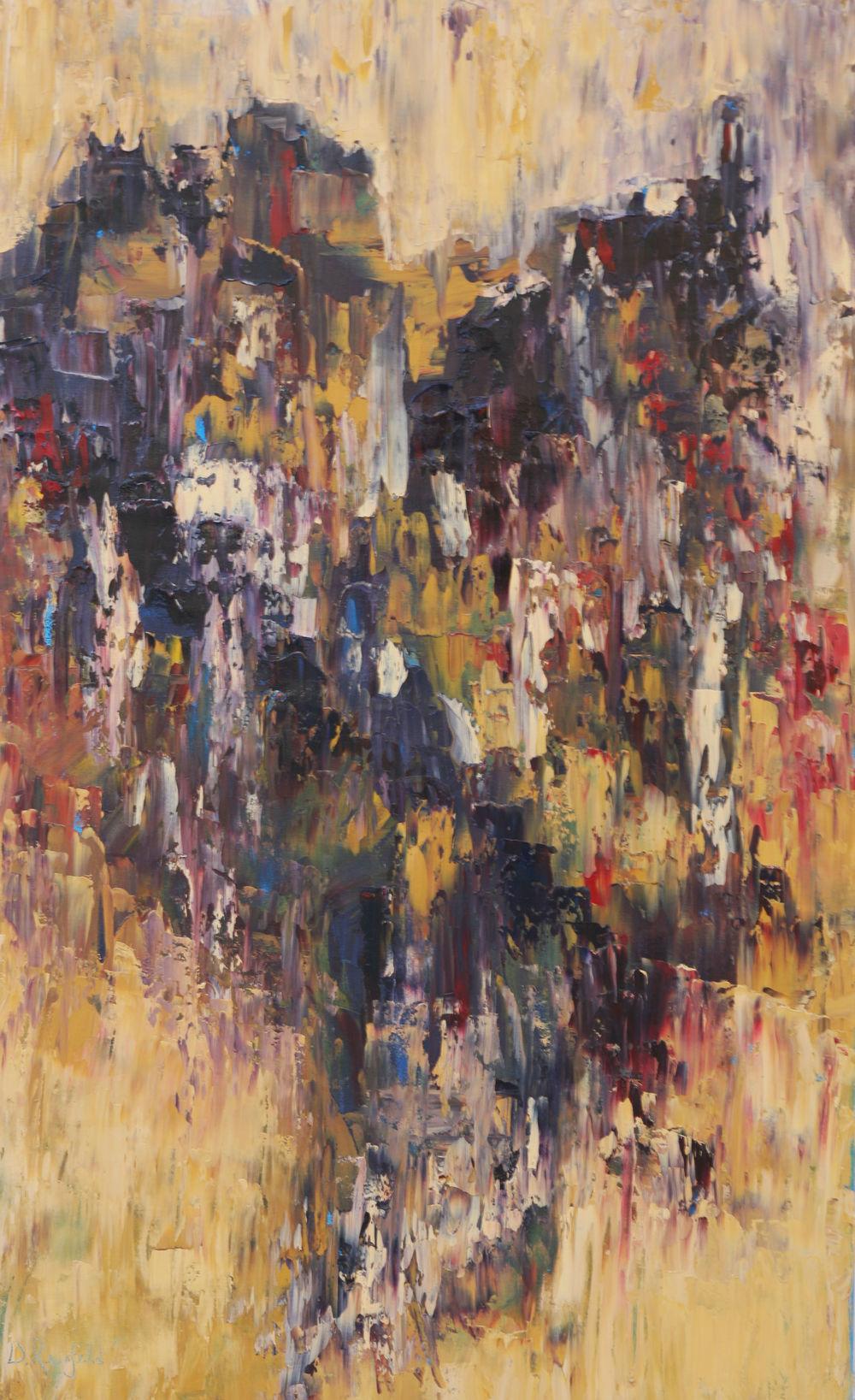 "Broken, oil on canvas, 48""x30"" SOLD"