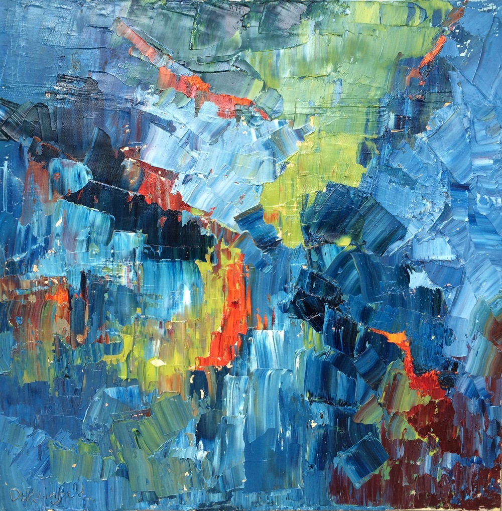 """Spark, oil on canvas, 24""""x24"""" SOLD"""