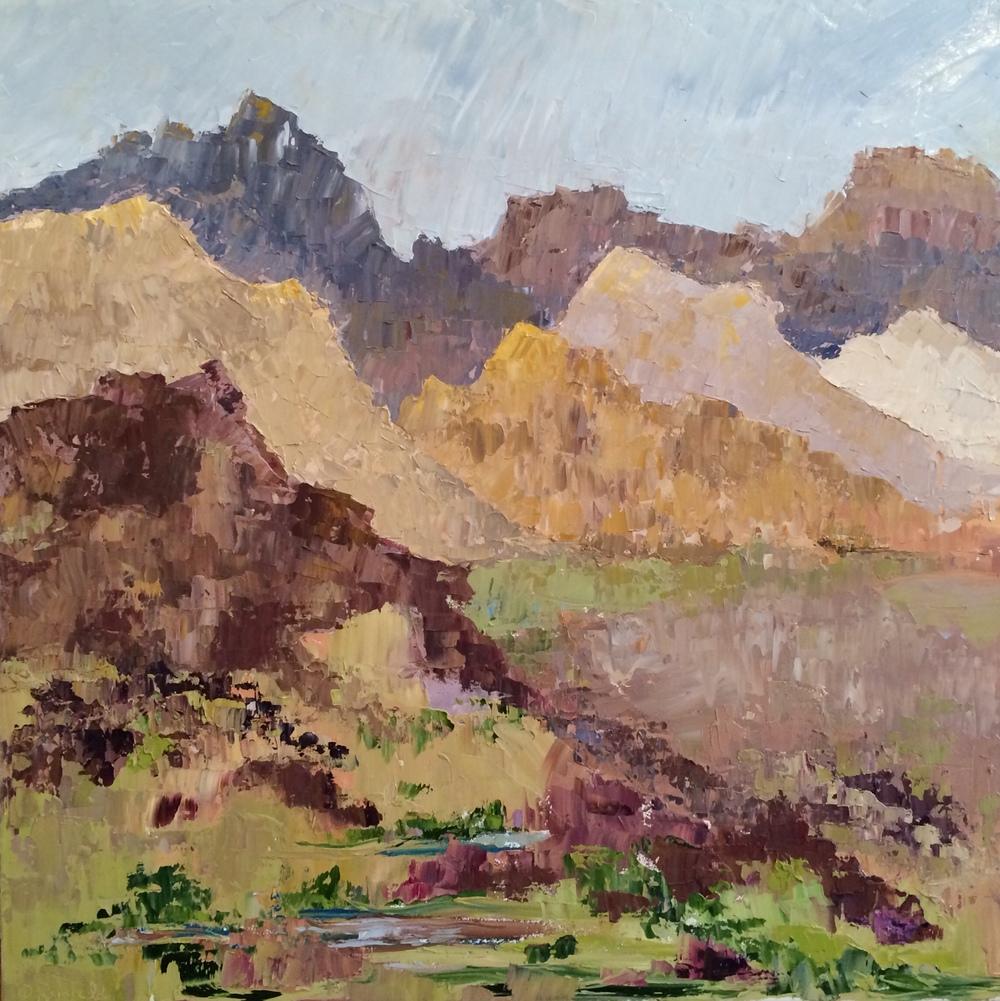 """Desert Dream, oil on canvas, 36""""x36"""" SOLD"""
