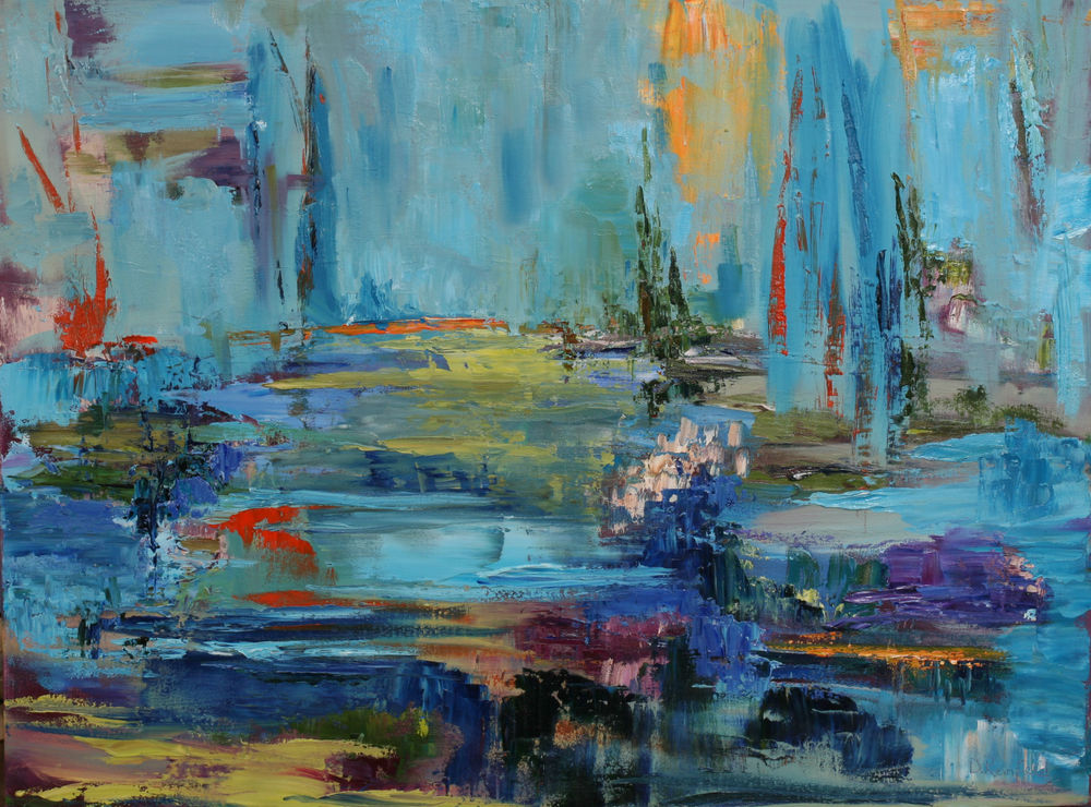 """Finding Sacred Ground, oil on canvas, 30""""x40"""" SOLD"""