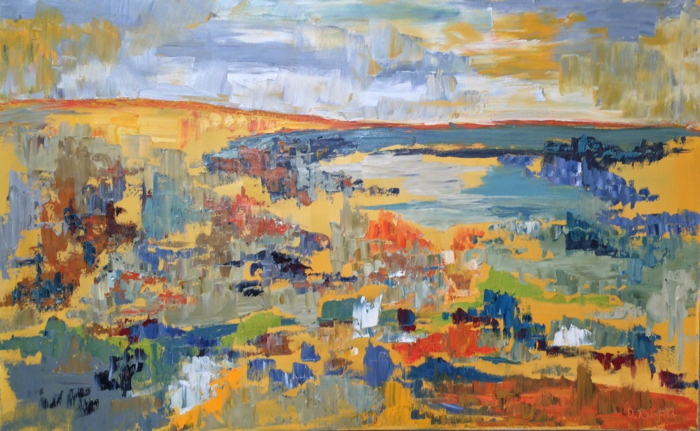"""Mirage, oil on canvas, 30""""x48"""" SOLD"""