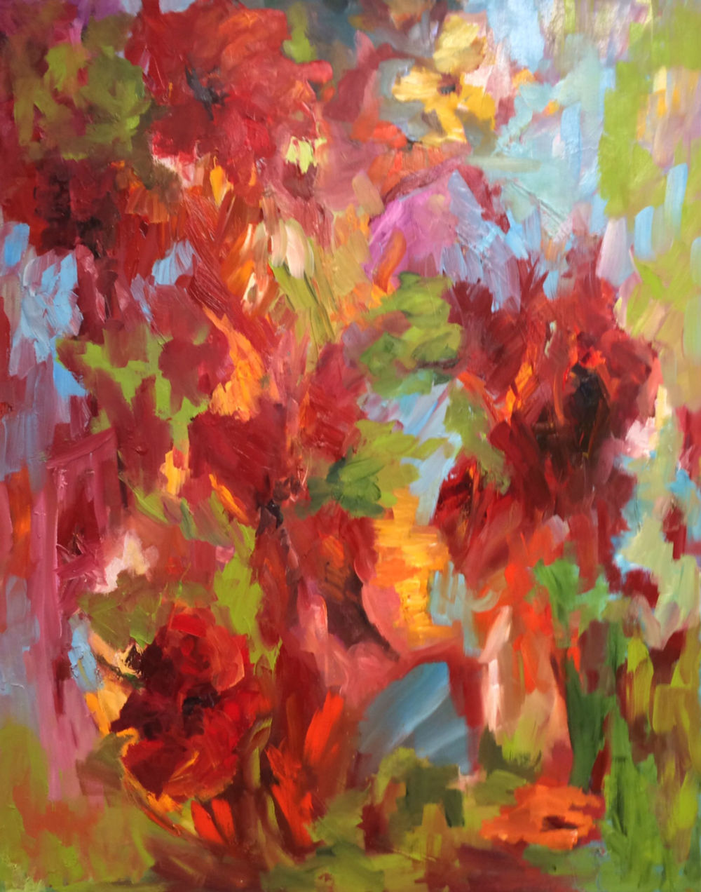 """Morning Garden, oil on canvas, 60""""x48"""" SOLD"""