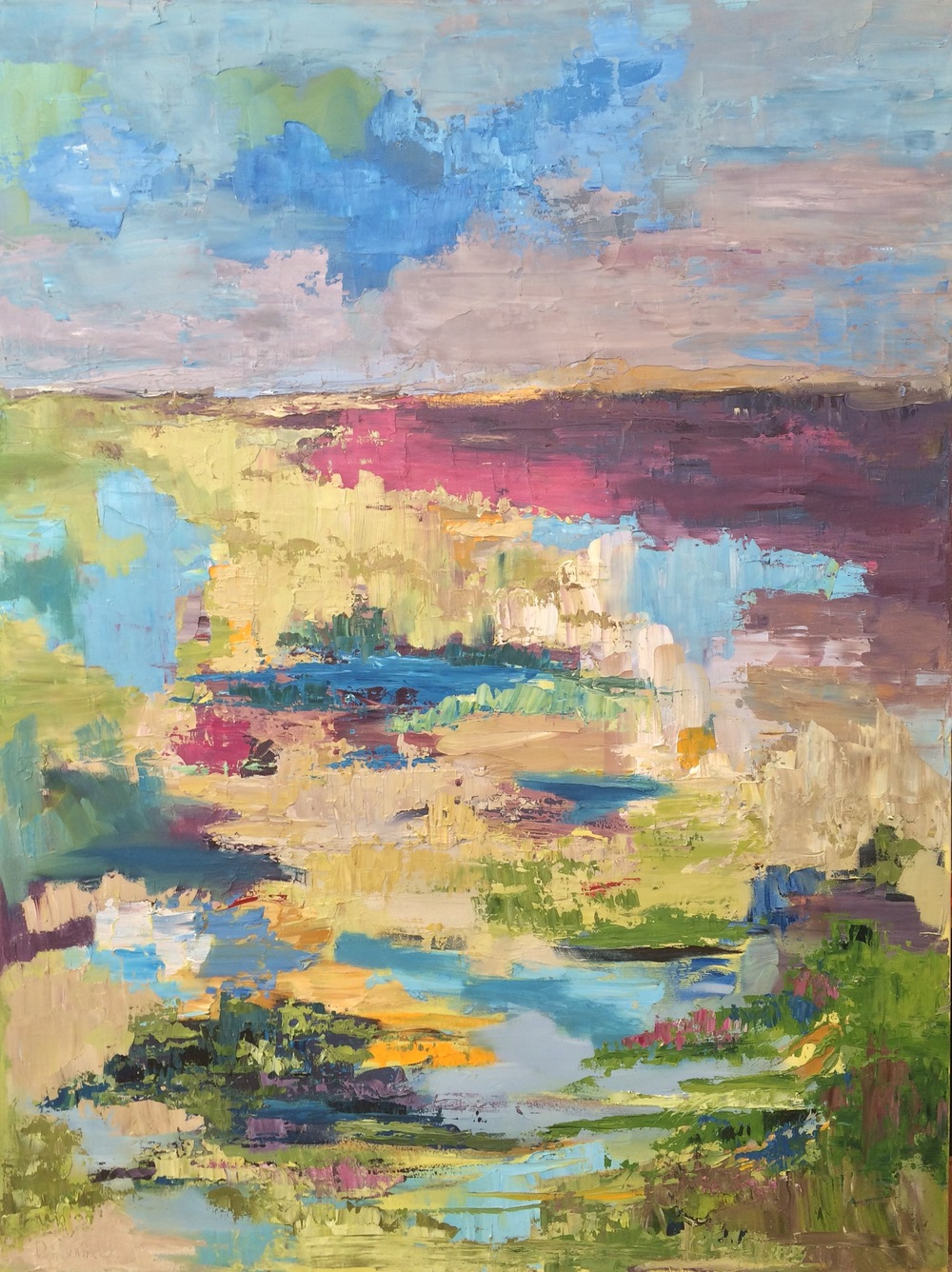 """Song of the Open Plains, oil on canvas, 48""""x36"""" SOLD"""