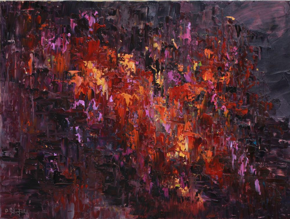 "The Fiery Core, oil on canvas, 30""x40"" NFS"