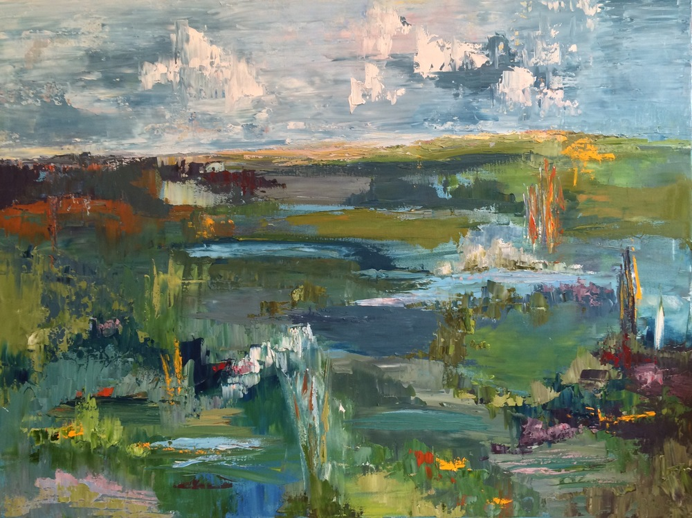 """When Land Meets Sky, oil on canvas, 36""""x48"""" SOLD"""