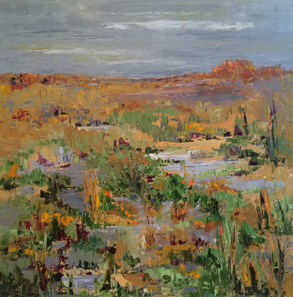 """When the Desert Blooms, oil on canvas, 36""""x36"""" SOLD"""