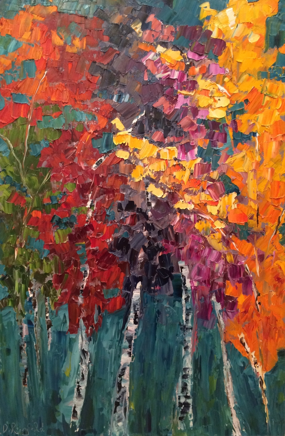 "Autumn Shine, oil on canvas, 36""x24"" SOLD"