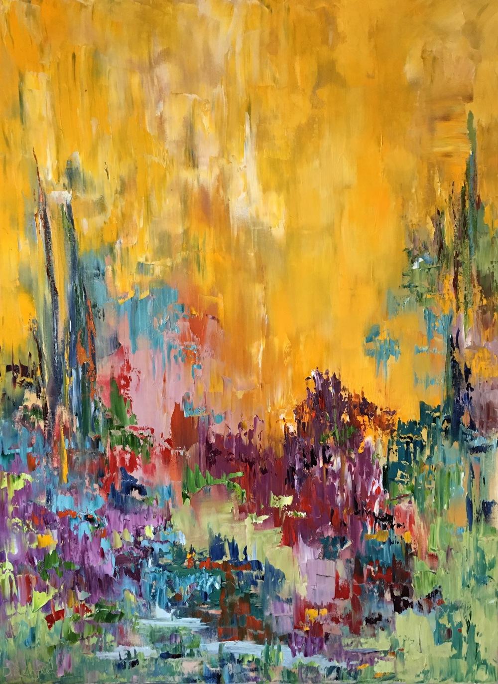 """Unending Joy, oil on canvas, 48""""x36""""  SOLD"""
