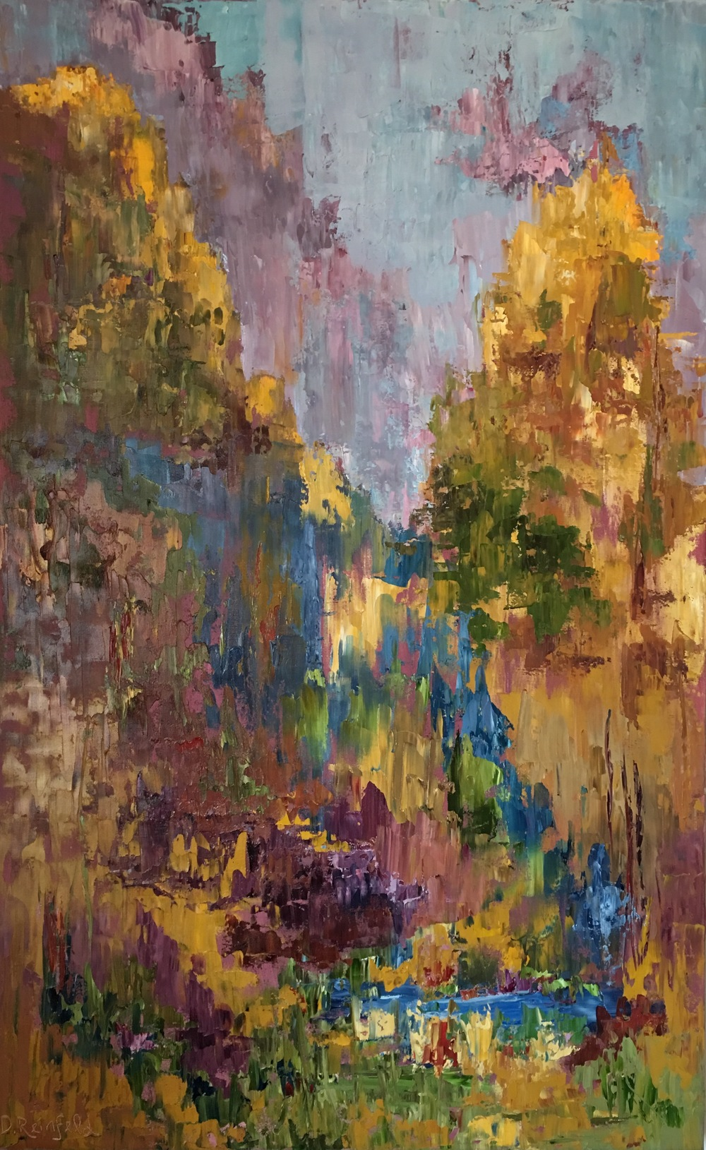"""Sacred Oasis, oil on canvas, 48""""x30"""" SOLD"""