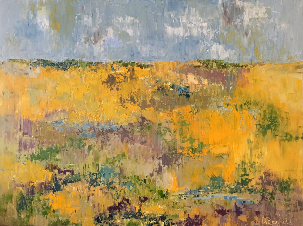 """Fields of Sunshine, oil on canvas, 30""""x40""""  SOLD"""