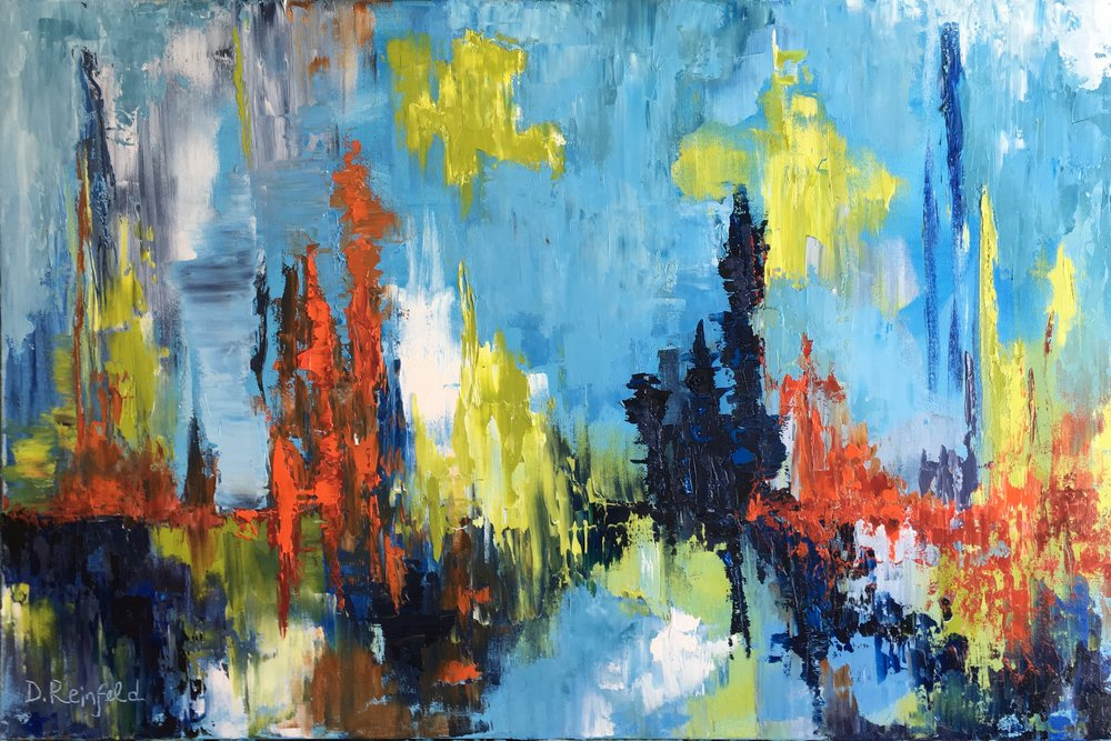 """Using it All, oil on canvas, 24""""x36"""" SOLD"""