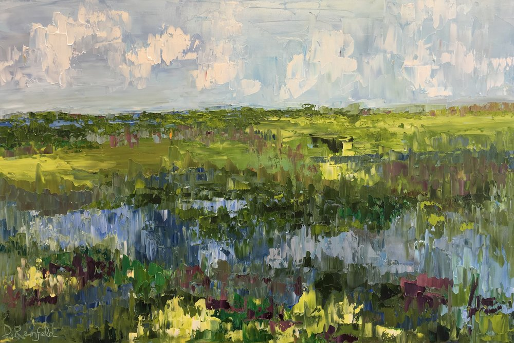 """Reflections of Summer, oil on canvas, 24""""x30"""" $1300"""