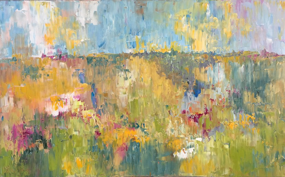 """Happy Place, oil on canvas, 30""""x48"""" SOLD"""