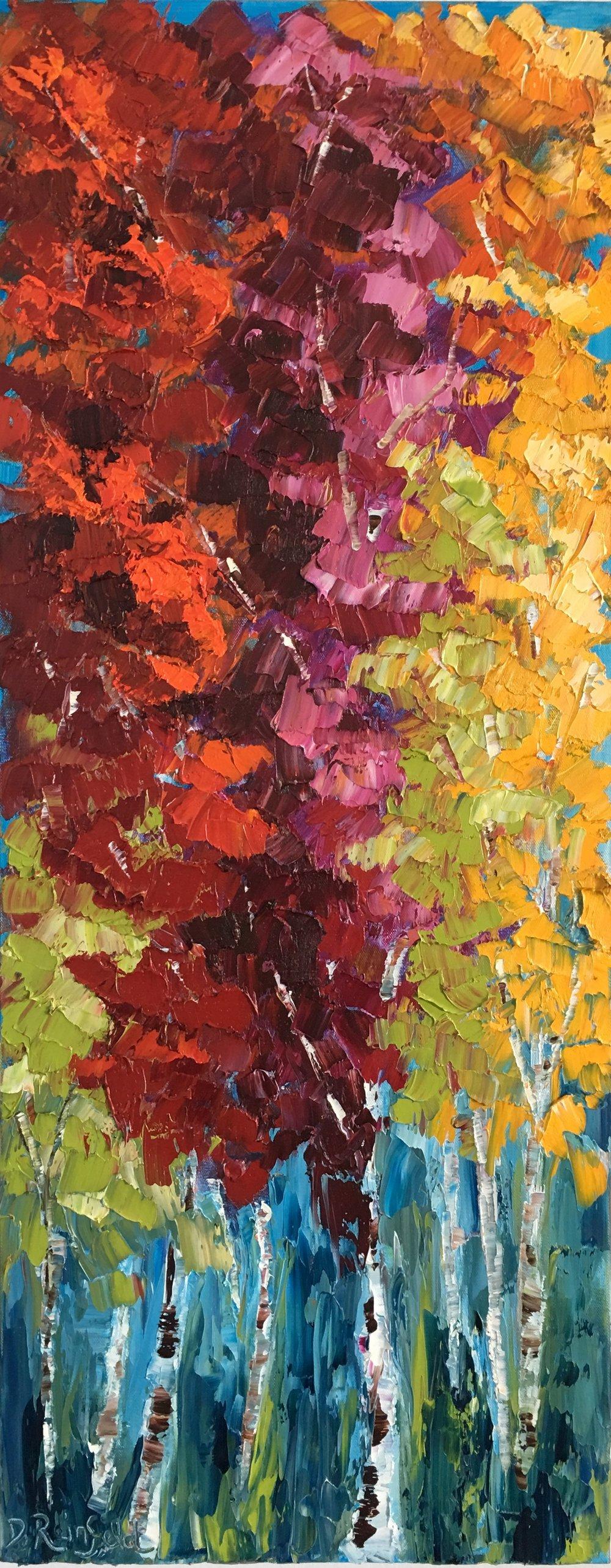 "Abundance, oil on canvas, 40""x16""  SOLD"