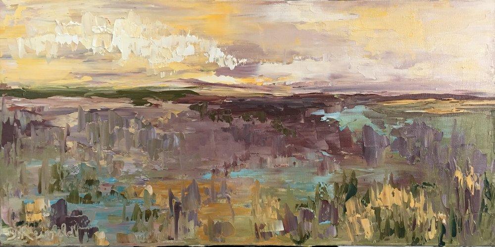 "Soul of the Desert, oil on canvas, 12""x24""  $475"