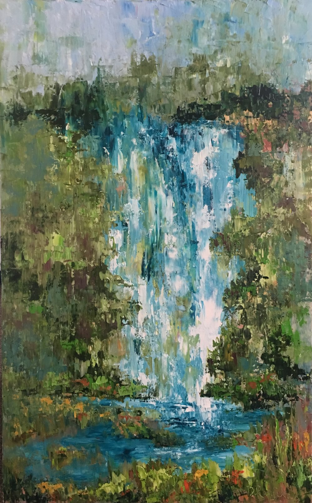 """The Soul's Oasis, oil on canvas, 48""""x30"""" SOLD"""