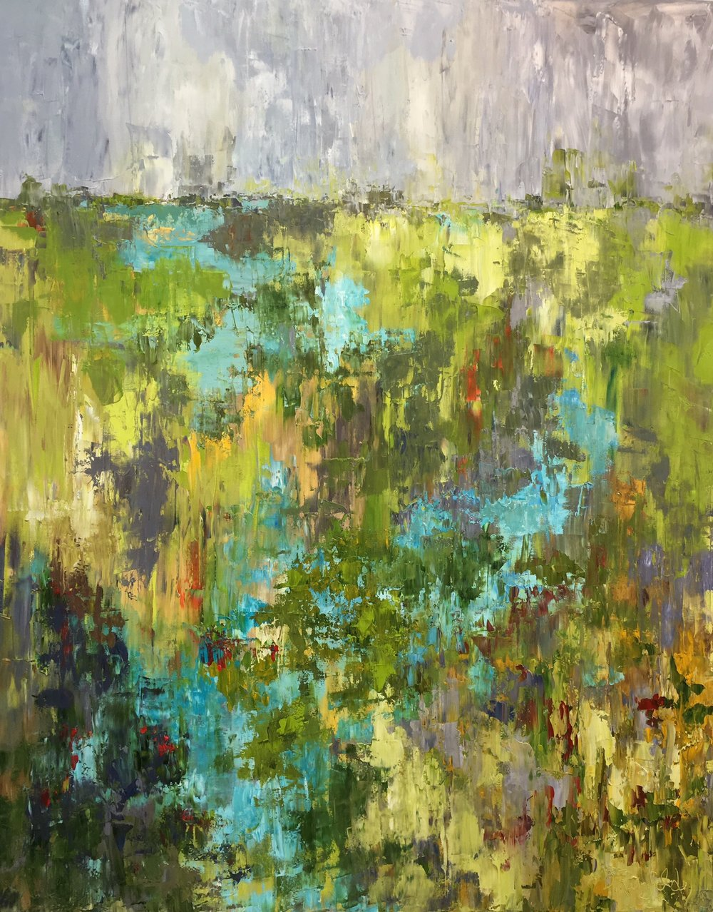 "Finding Joy, oil on canvas, 60x48"" $3600"