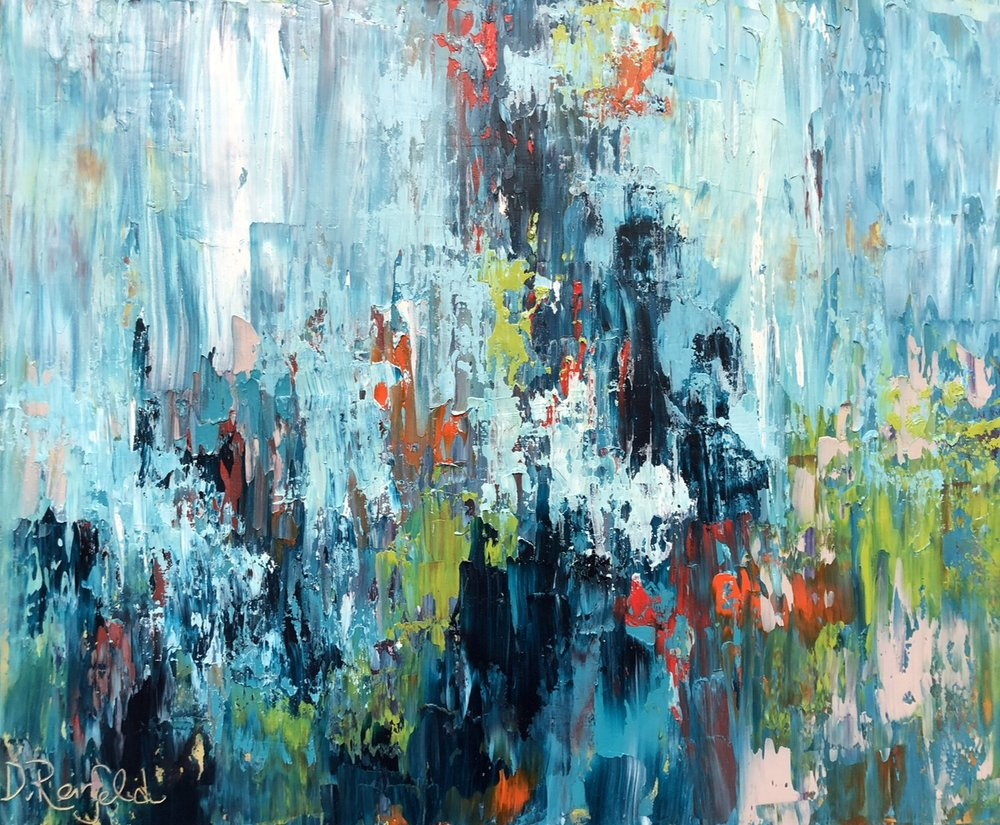 """Into the Abyss, oil on canvas, 20""""x24"""" SOLD"""