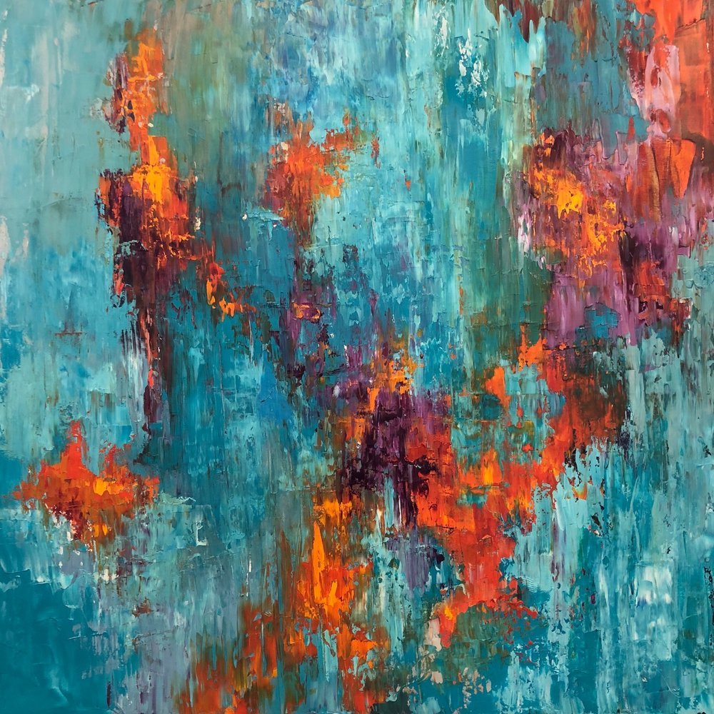 """Rise Up, oil on canvas, 36""""x36"""" $1900"""