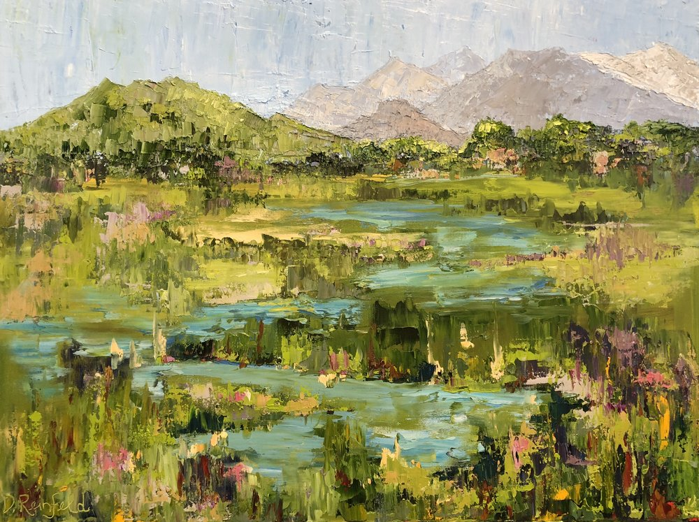"""Meandering, oil on canvas, 30""""x40"""" SOLD"""