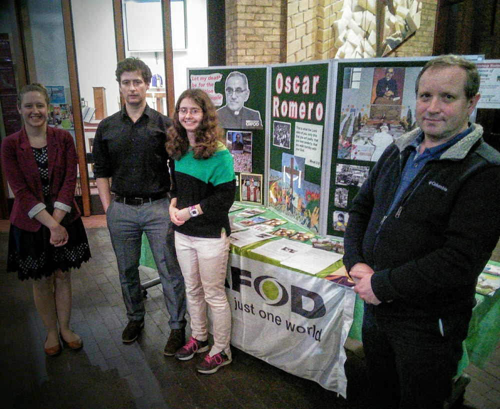 We were delighted to welcome CAFOD who set up a stall with information on Romero.