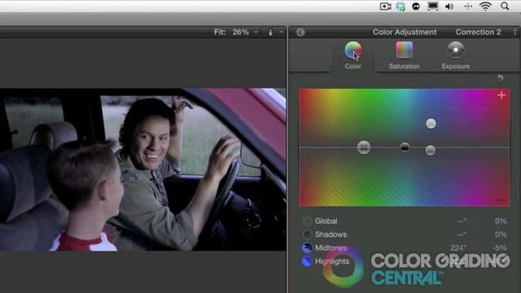 Image result for final cut pro color grading