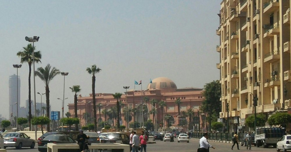 Tahrir Square in Cairo, famous site of Arab Spring demonstrations