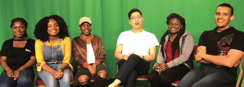 """Members of """"Let's Afro Talk"""" and their guests, from left: Aishat Raimi, Vanessa Myron, Latifat Raimi, Jin Ho, Taiwo Adebunmi and Eyobed Astake."""