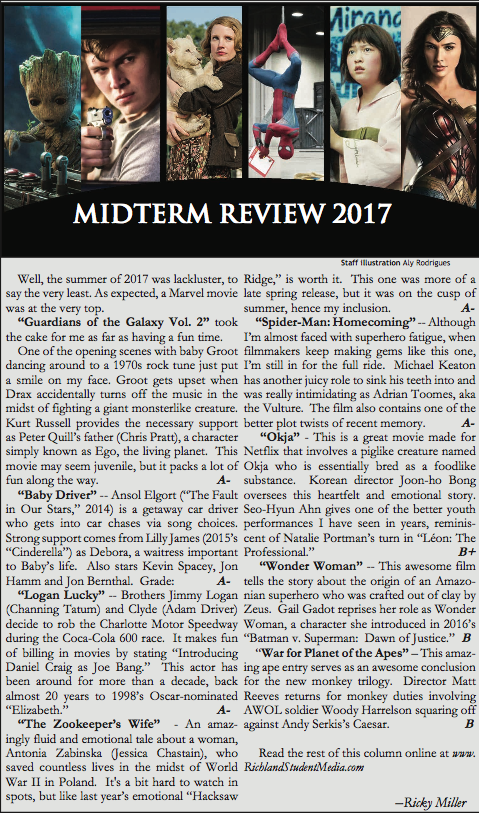 Movie Midterm Review 2017 — Richland Student Media