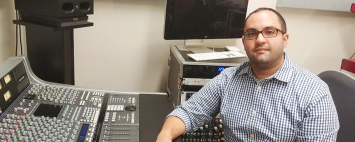 Professor Omar Surillo will oversee renovated recording facilites at Richland.