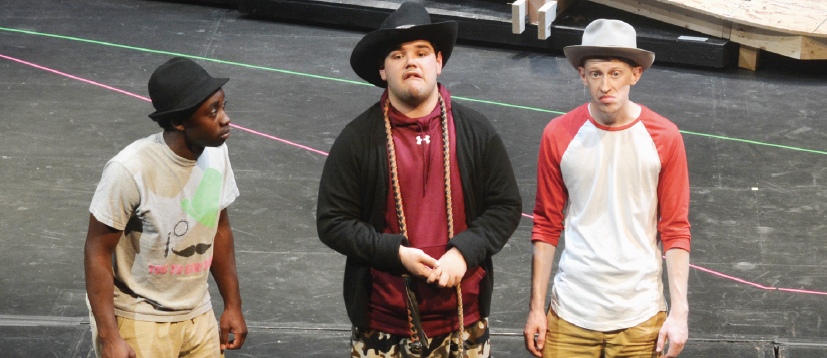 "Jabin Lewis, left,  Shae Hardwick and Carter Brown won awards for "" Waiting for Godot."""